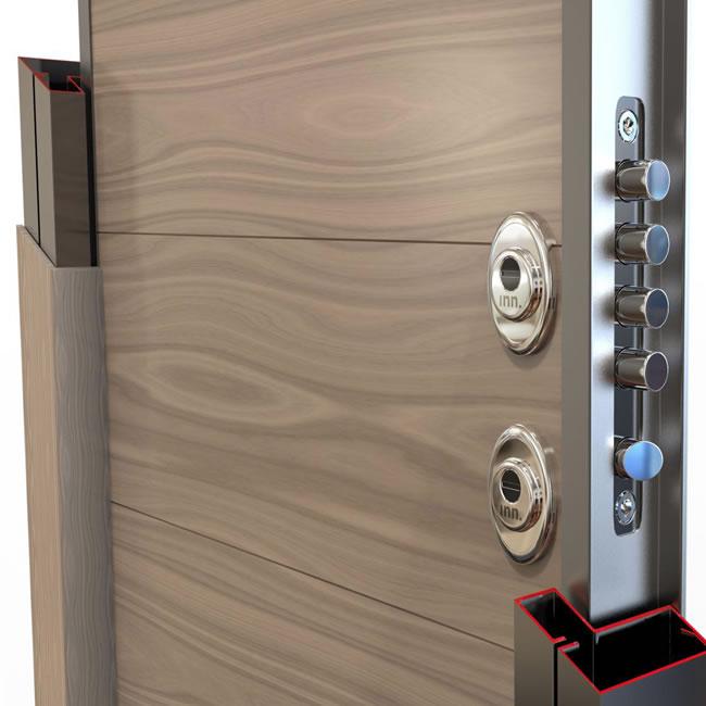 Puertas de seguridad con doble cerradura erkoch security - Puertas de seguridad para casas ...